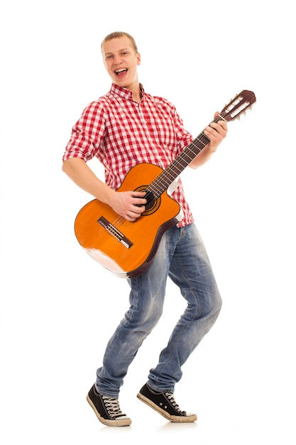 Young musician with a guitar Free Photo