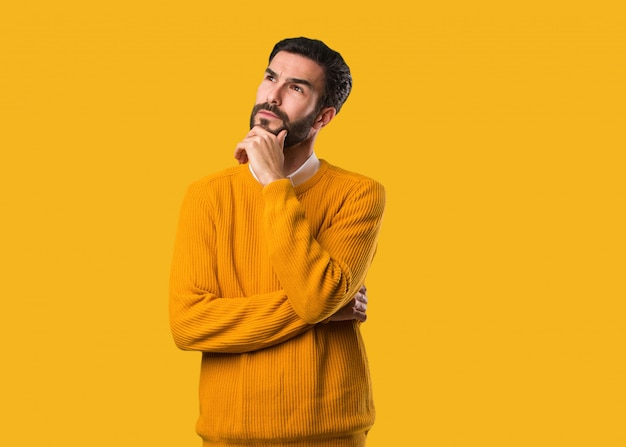 Young natural man thinking about an idea Premium Photo