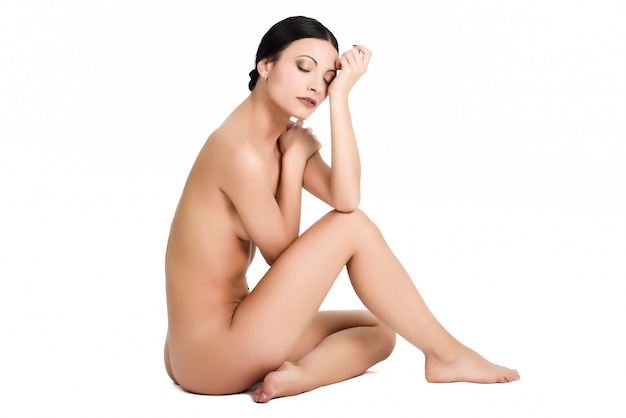 Young portrait nude sensuality body Free Photo