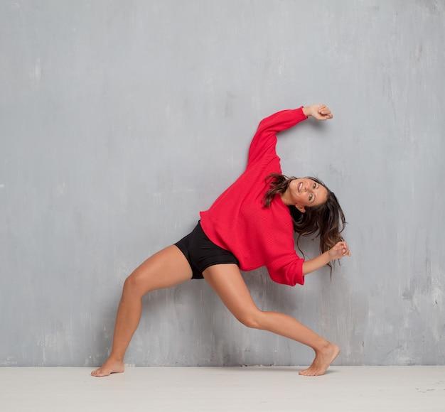 Young pretty woman full body. street dance concept Premium Photo