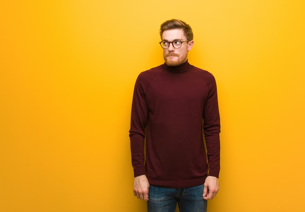 Young smart man thinking about an idea Premium Photo