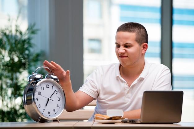 Young student preparing for school exams Premium Photo