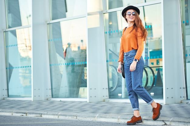 Young stylish attractive girl Premium Photo