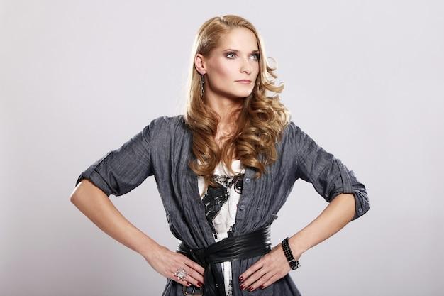 Young and stylish woman Free Photo