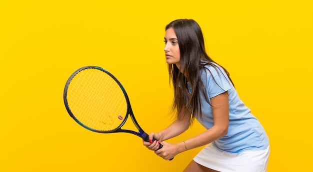 Young tennis player woman Premium Photo