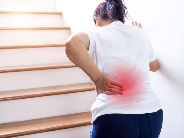 low back pain when walking uphill