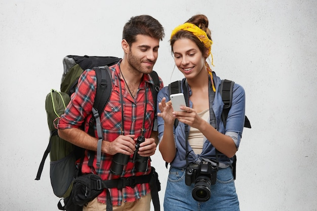 Young tourists couple with equipment Free Photo
