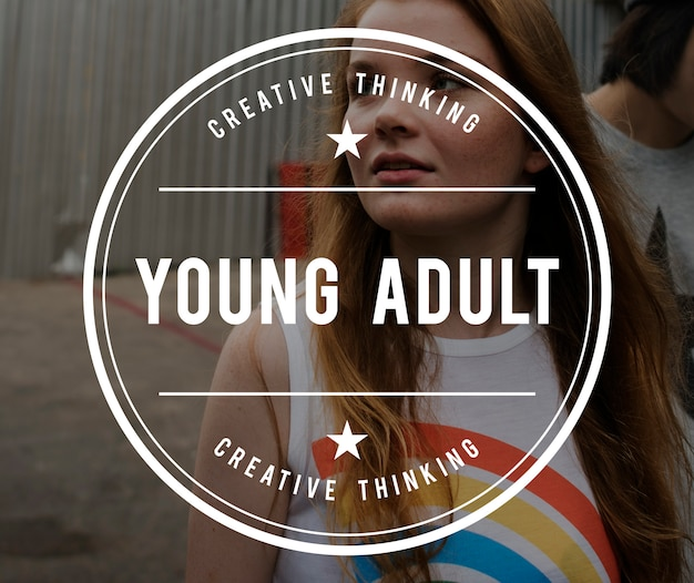 Young vintage vector graphic concept Free Photo