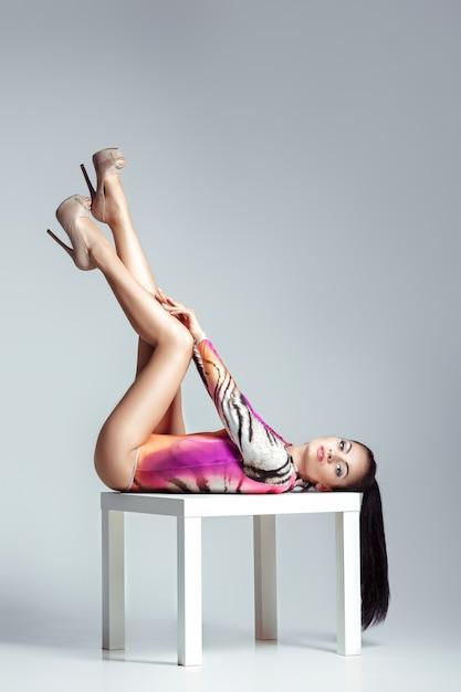 Young woman in bodysuit Premium Photo