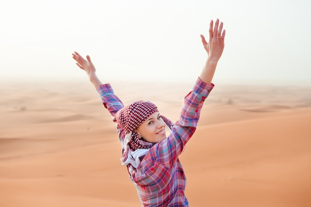 Young woman in the desert Free Photo