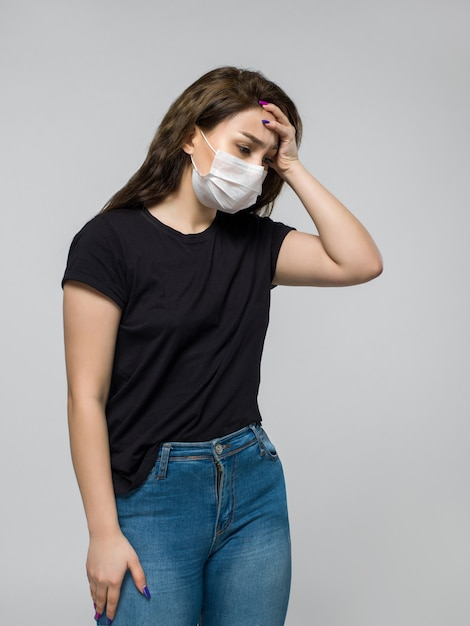 Young woman does not feel very well Free Photo