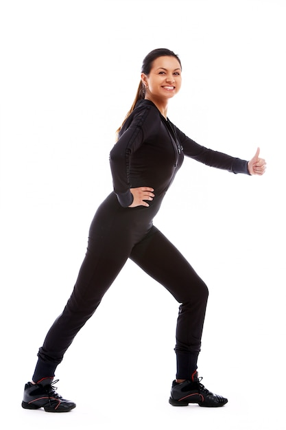 Young woman doing fitness exercises Free Photo