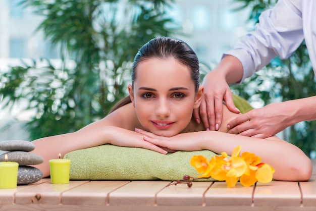 Young woman during massage session Premium Photo