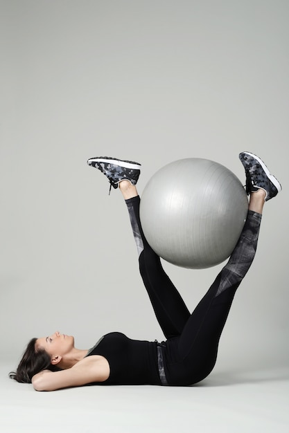 Young woman exercising, fitness Free Photo