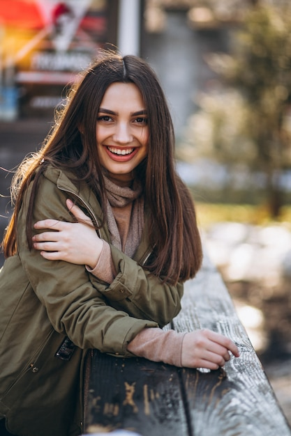 Young woman portrait in the street Free Photo