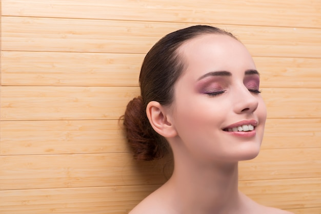 Young woman preparing for spa session Premium Photo