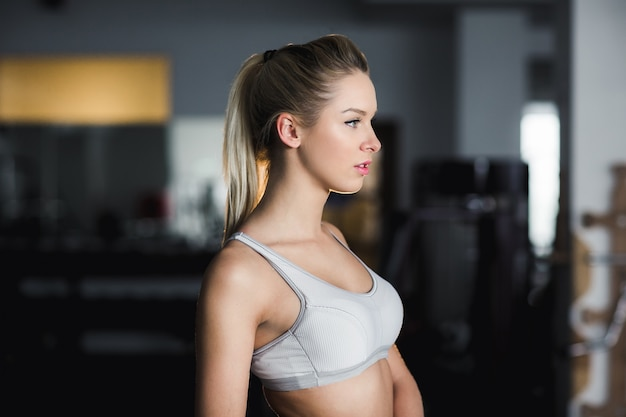 Young woman resting after exercises Free Photo