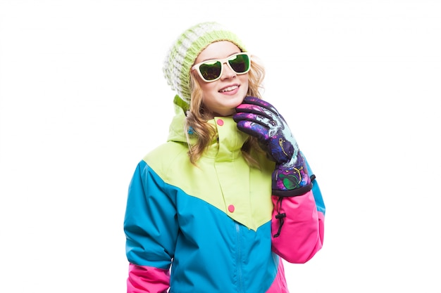 Young woman in ski suit and sunglasses Premium Photo
