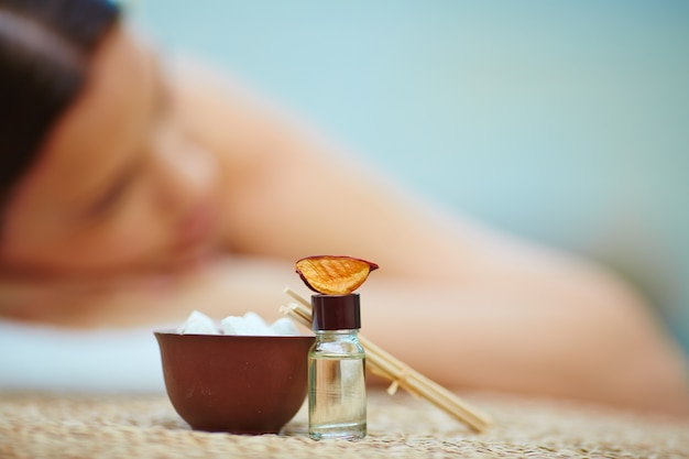 Young woman in spa environment Free Photo