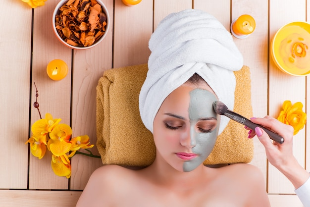 Young woman in spa health concept Premium Photo