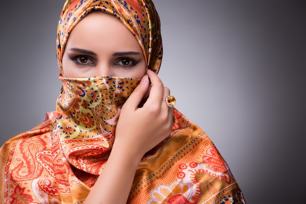 Young woman in traditional muslim clothing Premium Photo
