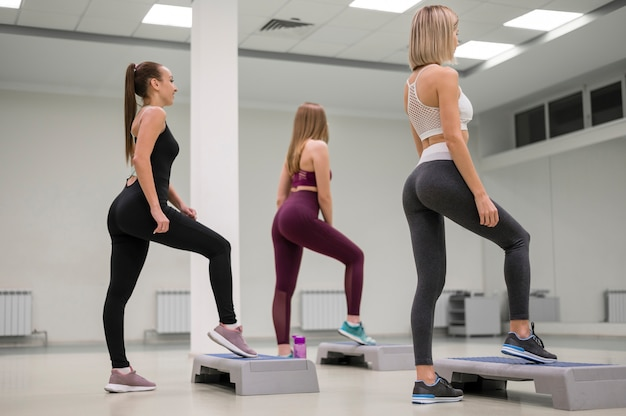Young women exercising together Free Photo
