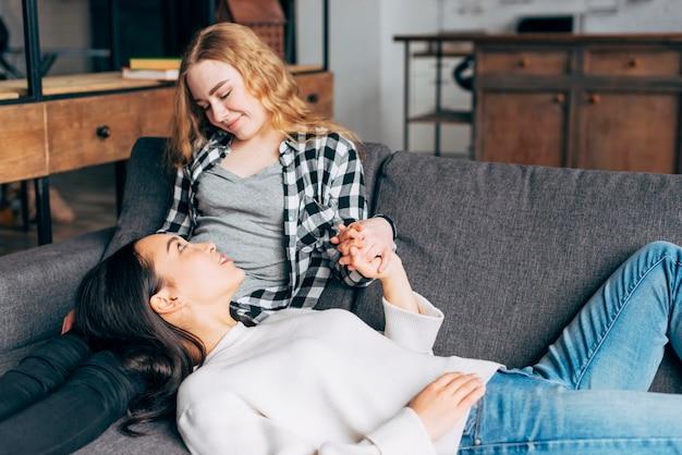 Young women having confiding talk Free Photo