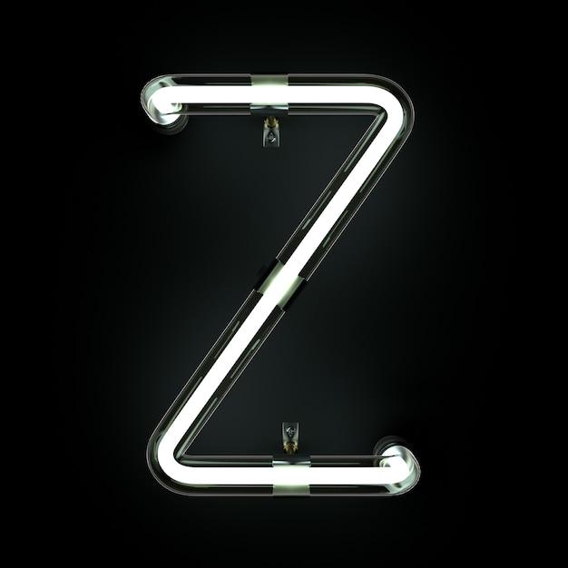 Неоновый световой алфавит z Premium Фотографии