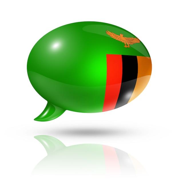 Zambian flag speech bubble Premium Photo