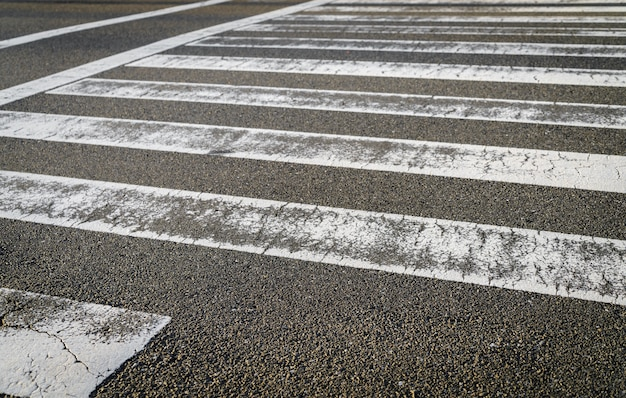 Zebra crossing road Free Photo