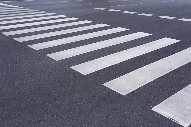 Zebra pedestrian crossing. Premium Photo