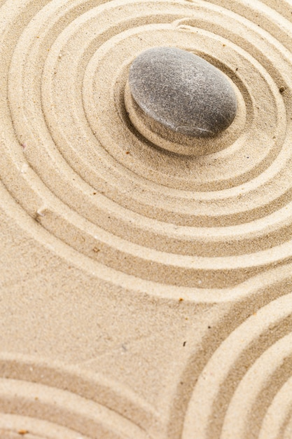 Zen garden meditation stone background Premium Photo