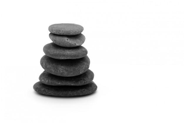 Изолированные камни дзен Premium Фотографии