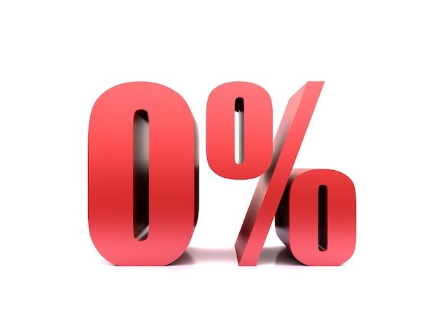 Ноль процентов 0% символ Premium Фотографии