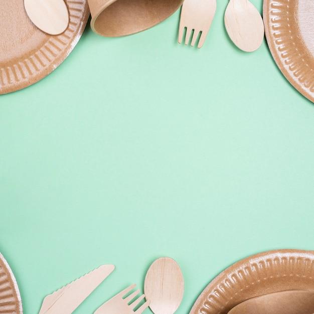 Безотходная биоразлагаемая посуда Premium Фотографии