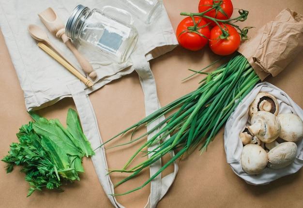 Zero waste shopping concept for free plastic Premium Photo