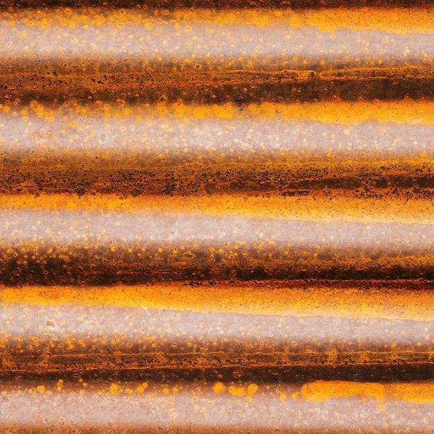 錆びた亜鉛または古い鉄。古いさび壁テクスチャ背景。 Premium写真