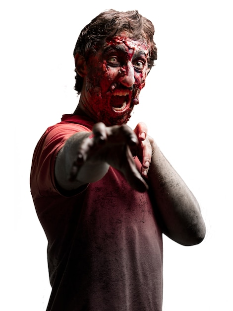 Zombie in a forward arm Free Photo