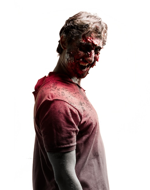 Zombie side with dark face Free Photo