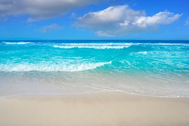 Пляж канкун дельфинес в отеле zone мексика Premium Фотографии