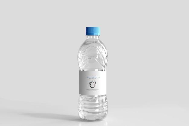 Мокап бутылки с пресной водой объемом 1,0 л Бесплатные Psd