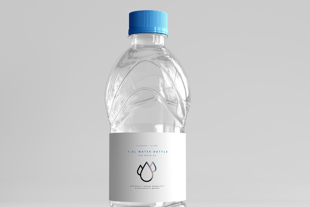 1.0l fresh water bottle mockup Free Psd