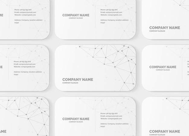 10mm round corner business card mockup Premium Psd