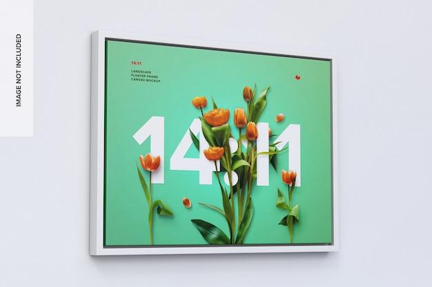 11:14 프레임 모형 프리미엄 PSD 파일