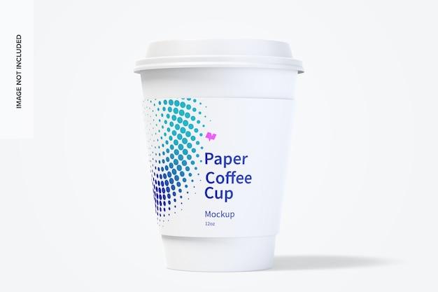 Мокап бумажной чашки кофе на 12 унций Premium Psd