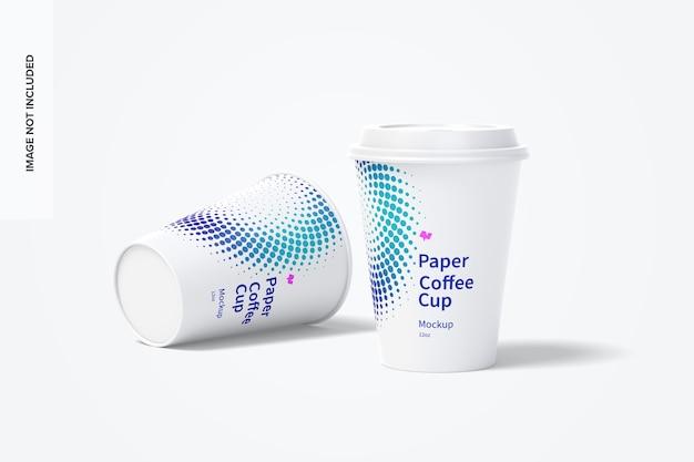 Мокап бумажных кофейных чашек на 12 унций Premium Psd