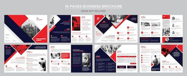 16ページのビジネスパンフレット Premium Psd