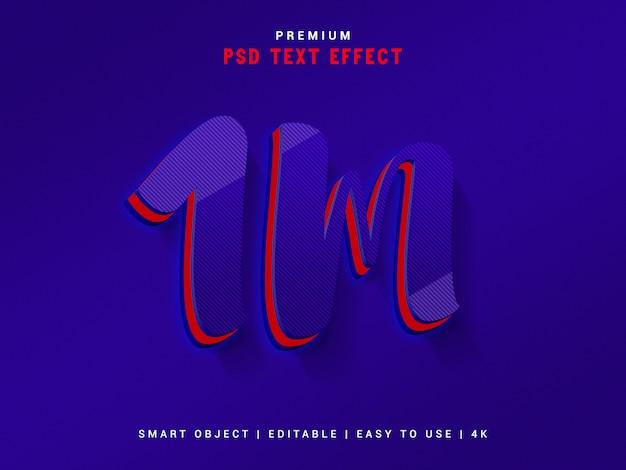 Генератор текстовых эффектов 1m follower. Premium Psd
