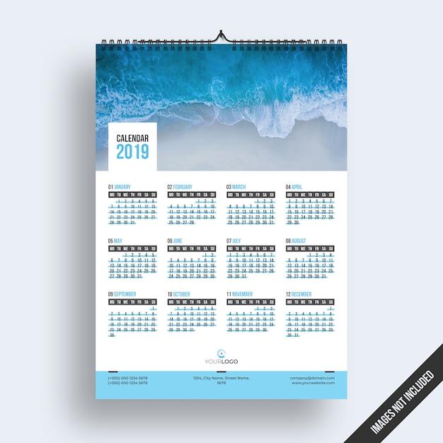 Настенный календарь 2019 Premium Psd