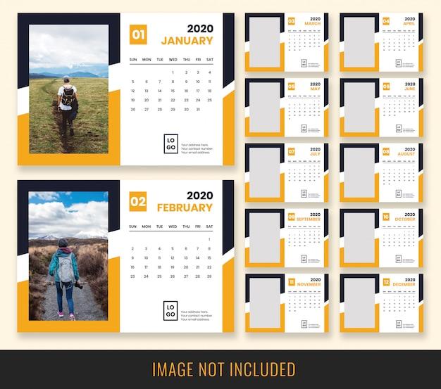 Настольный календарь 2020 design Premium Psd